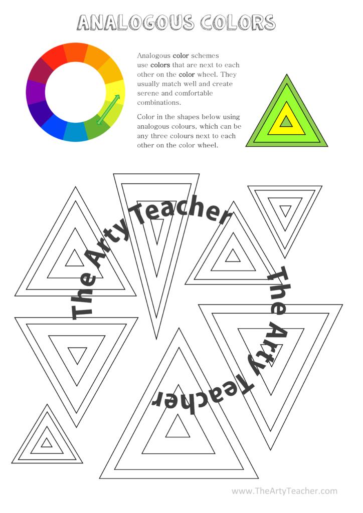 Teaching Analogous Colors In The Art Classroom The Arty Teacher
